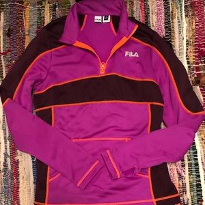 Work out top Fila sport zip up